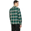 RRL Green and Grey Towns Camp Shirt