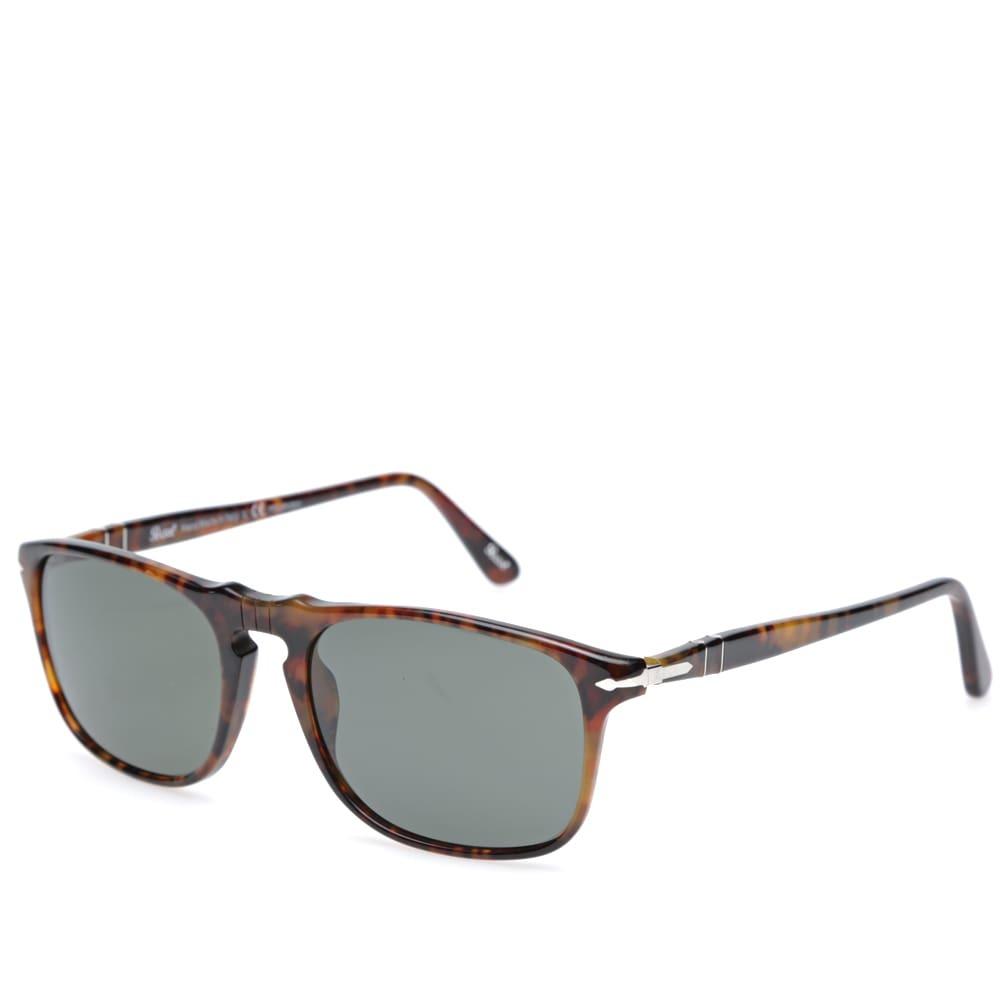 Persol 3059S Square Framed Polarised Aviator Sunglasses Brown Persol