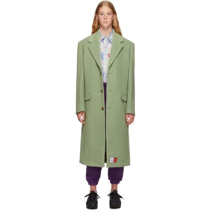 Martine Rose Green Wool Coat