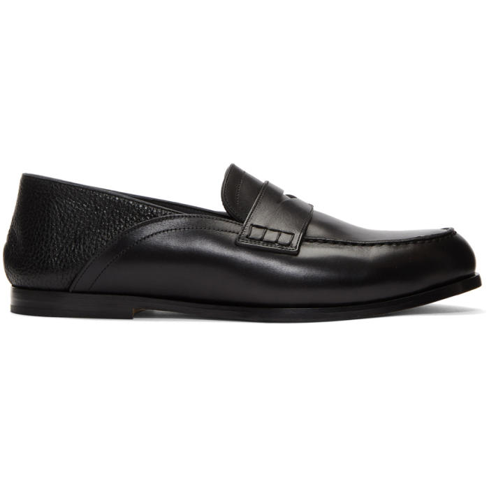 Photo: Loewe Black Convertible Penny Loafers