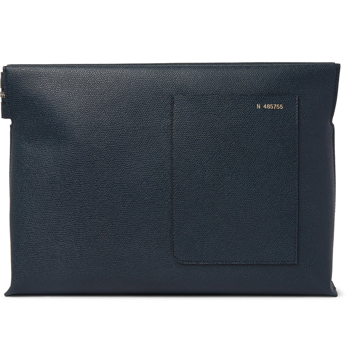 Photo: Valextra - Pebble-Grain Leather Pouch - Blue