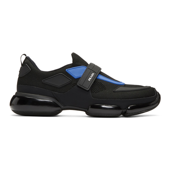 Photo: Prada Black and Blue Sport Sneakers