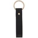 Smythson Black Panama Messenger Keychain