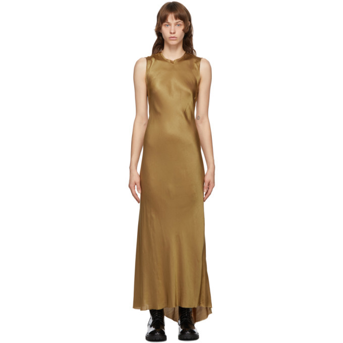 Photo: Ann Demeulemeester SSENSE Exclusive Gold Keyhole Dress