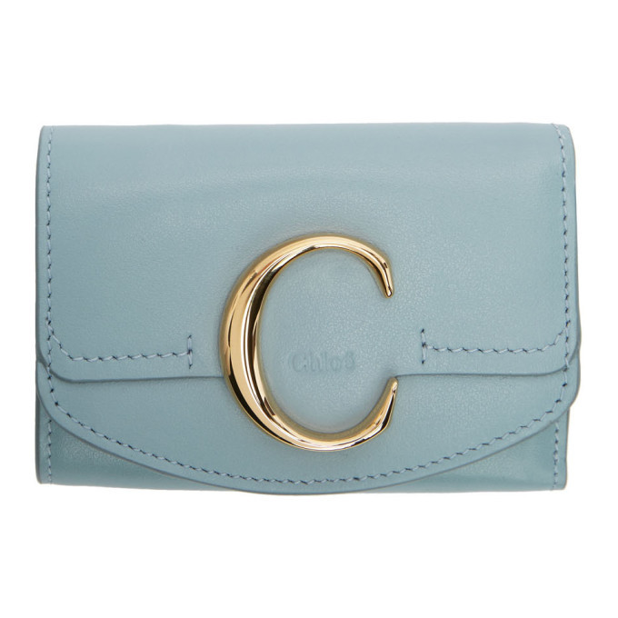 Photo: Chloe Blue Chloe C Trifold Wallet