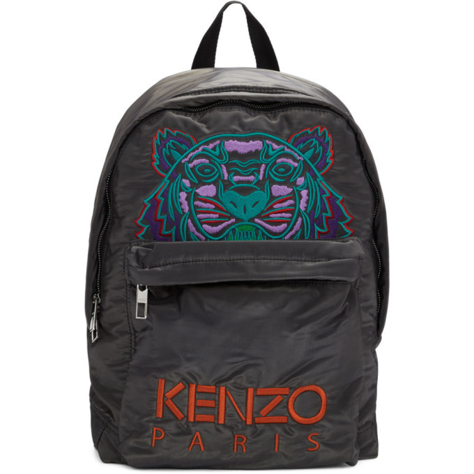 Photo: Kenzo Grey Limited Edition Holiday Large Kampus Tiger Backpack