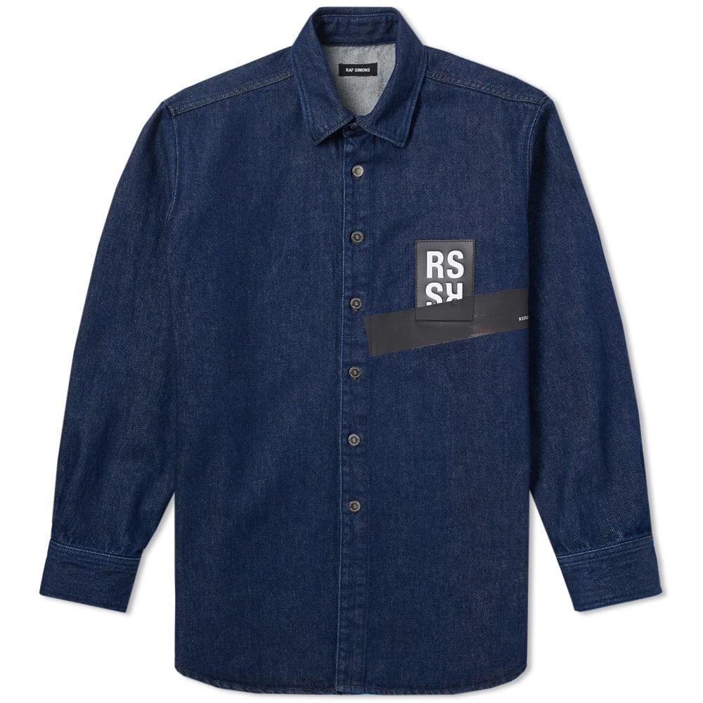 Raf Simons Patch Logo Denim Shirt