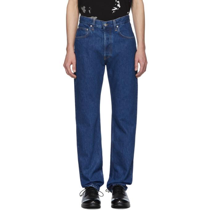 Photo: Helmut Lang Blue Masc Hi Straight Jeans
