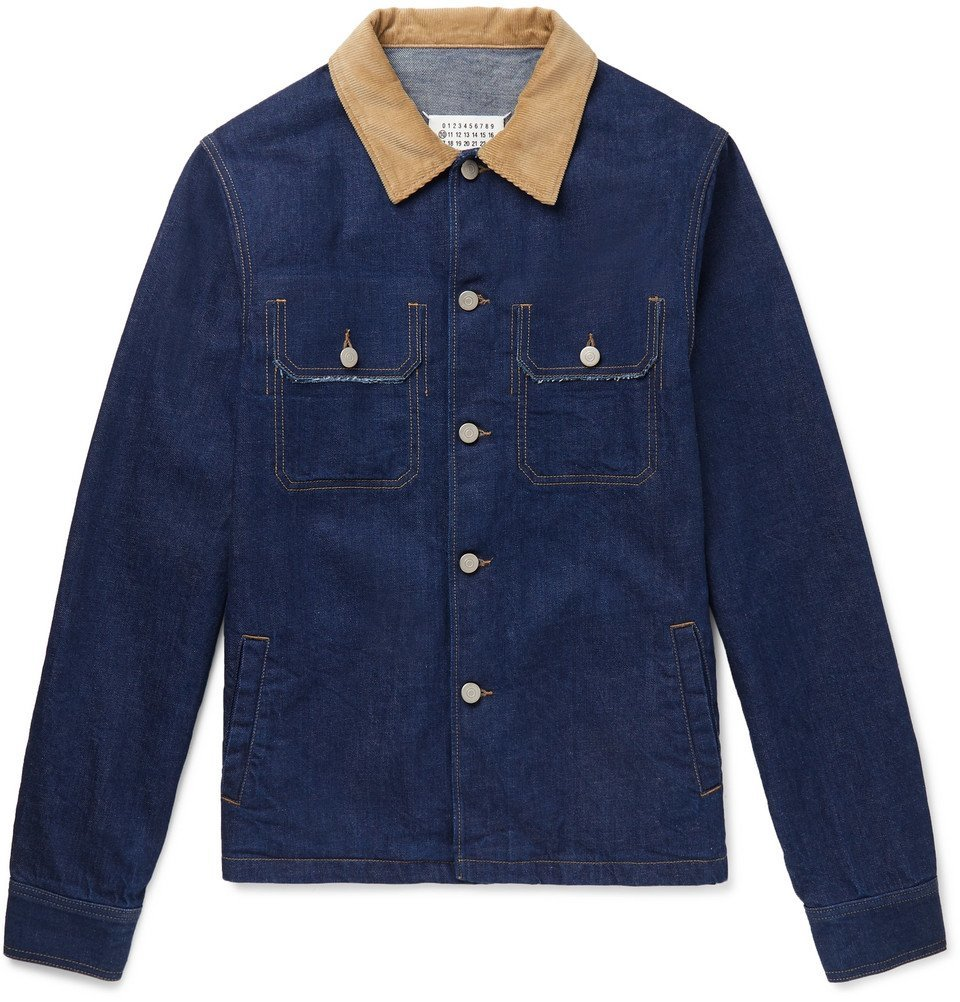Photo: Maison Margiela - Distressed Denim Trucker Jacket - Blue