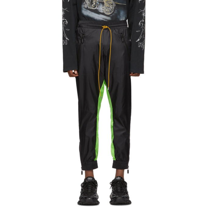 Photo: Rhude Black and Green Flight Suit Track Pants