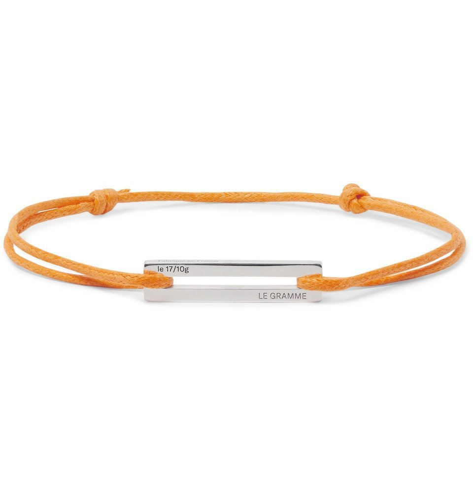 Photo: Le Gramme - 17/10 Cord and Sterling Silver Bracelet - Orange
