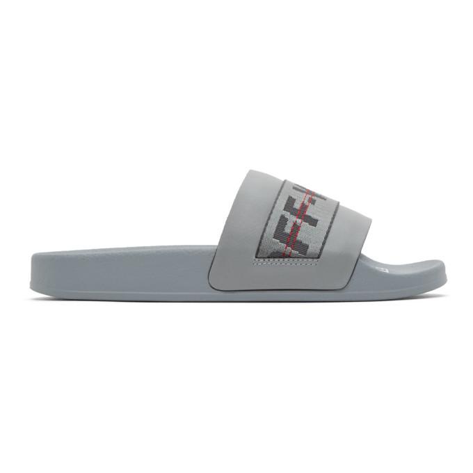Photo: Off-White Grey Industrial Slides