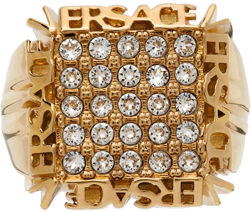 Photo: Versace Logo Crystal Ring