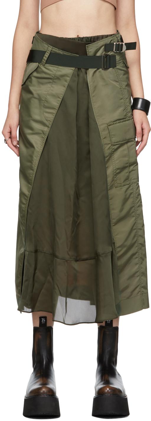 Photo: Sacai Nylon Twill Pleated Skirt