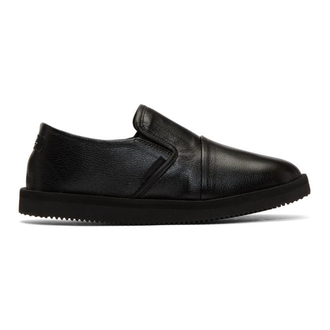 Photo: N.Hoolywood Black Suicoke Edition Slip-On Loafers