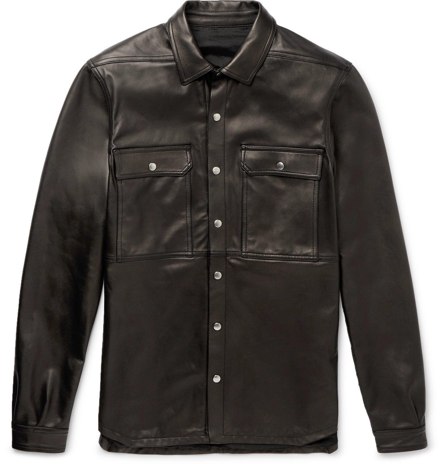Photo: Rick Owens - Leather Overshirt - Black
