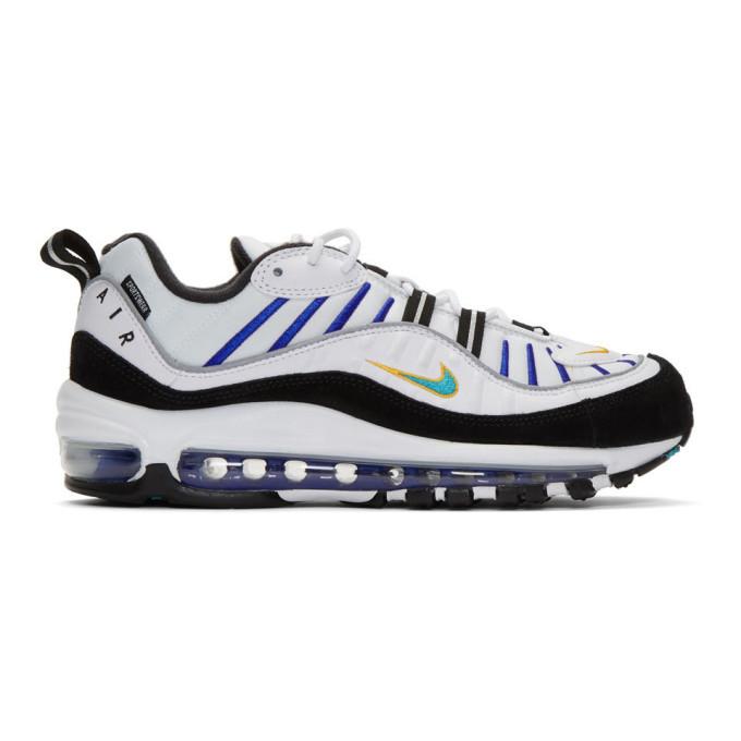 Photo: Nike White Air Max 98 Premium Sneakers