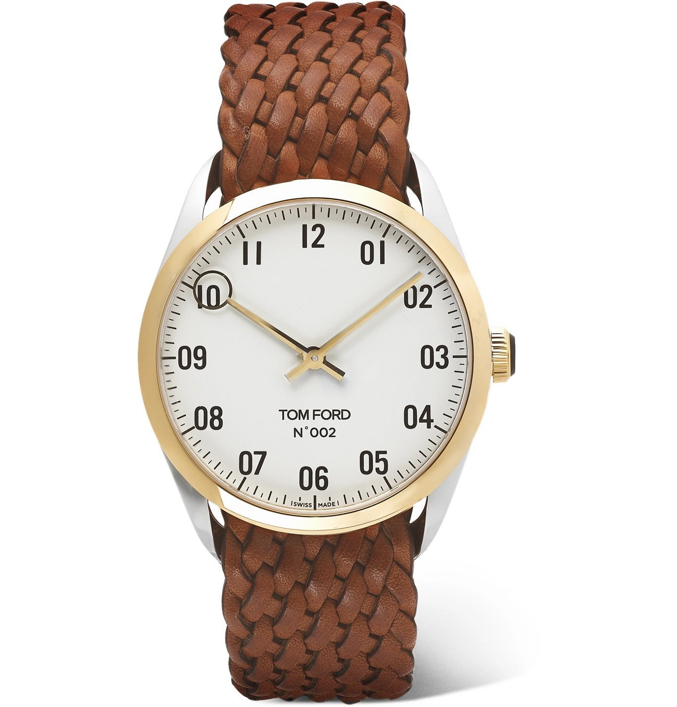 Photo: Tom Ford Timepieces - 002 40mm 18-Karat Gold and Alligator Watch - Brown