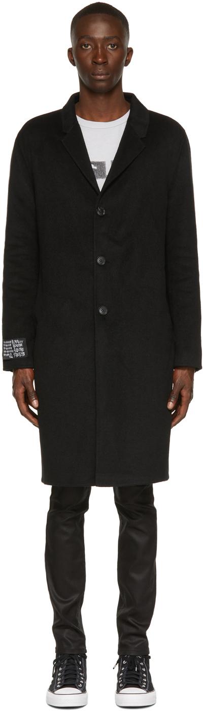 Photo: Ksubi Black Wool Mogul Coat