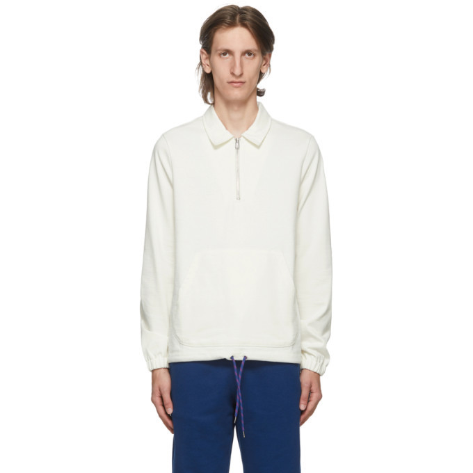 Photo: PS by Paul Smith Off-White Half-Zip Sweater
