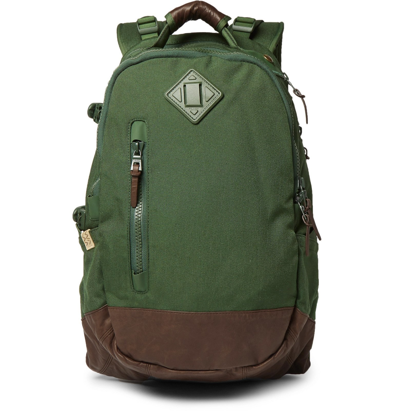 Photo: visvim - CORDURA and Faux Leather Backpack - Green