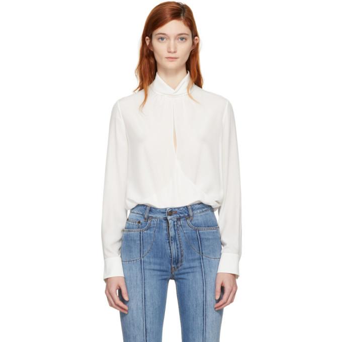 For Cheap Sale Online Outlet Store Online Off-White Open Front Blouse Chloé Buy Cheap Deals Cheap Best Wholesale CzodP