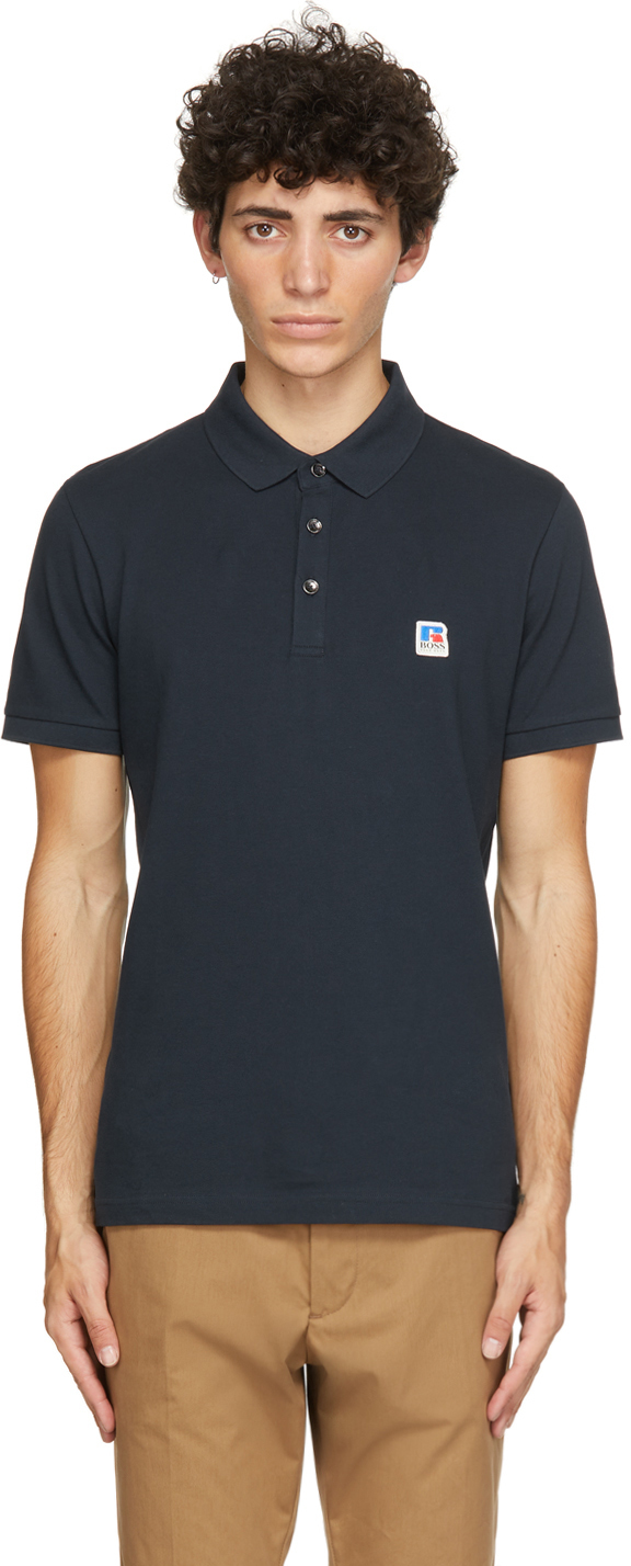 Photo: Boss Navy Russell Athletic Edition Petroc Polo