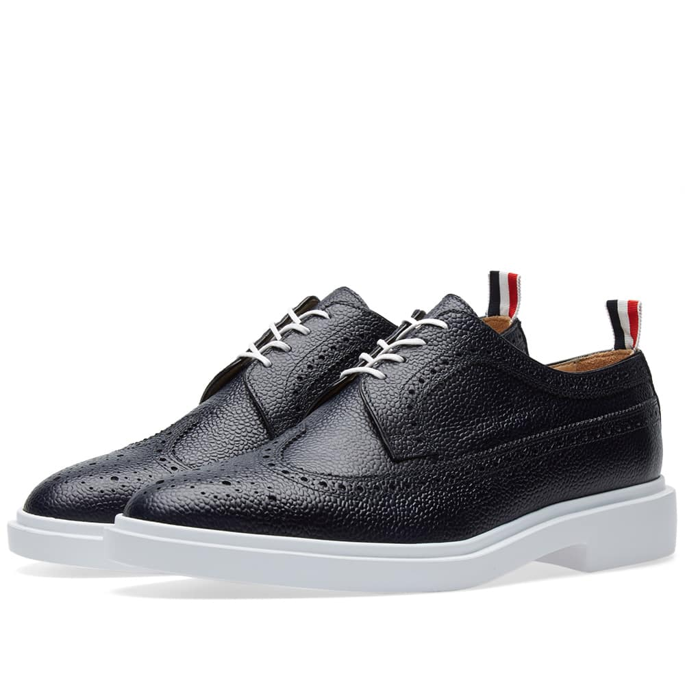 Photo: Thom Browne White Sole Pebble Grain Brogue