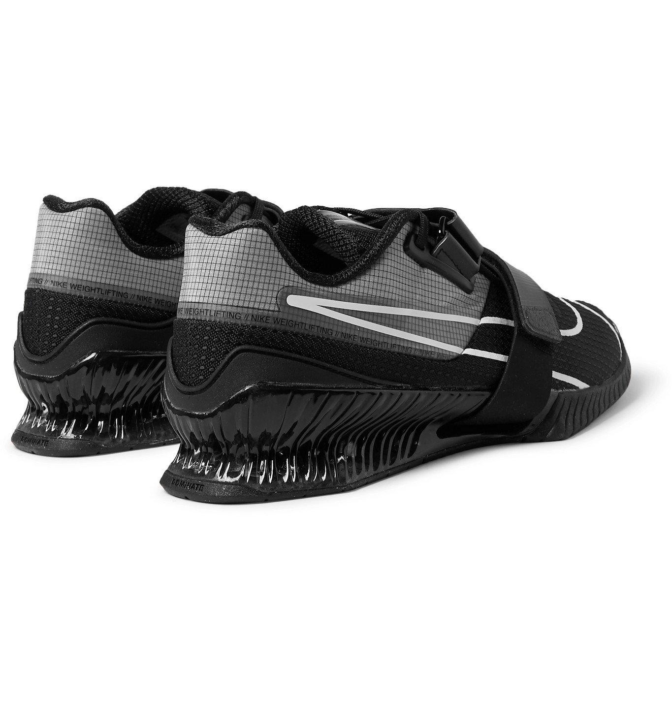 Nike Training - Romaleos 4 Ripstop and Mesh Sneakers - Black