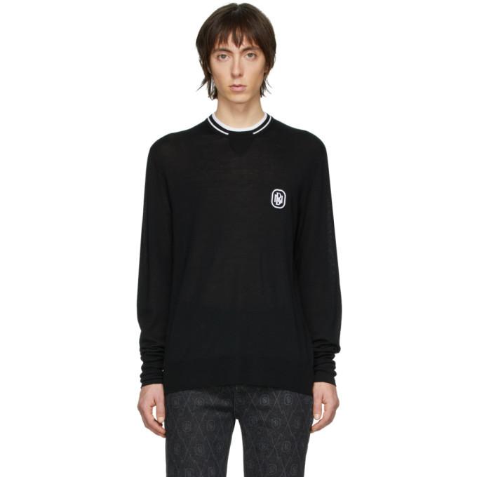 Photo: Neil Barrett Black Travel Logo Sweater