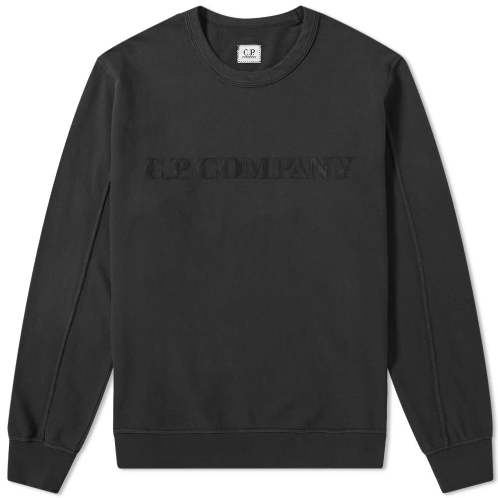 Photo: C.P Company Straight Logo Crew Sweat Black