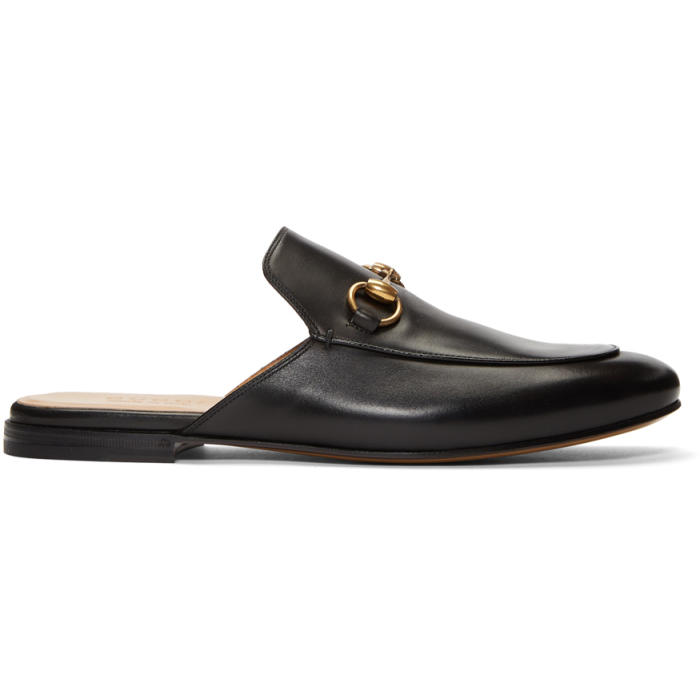 Photo: Gucci Black Kings Slip-On Loafers