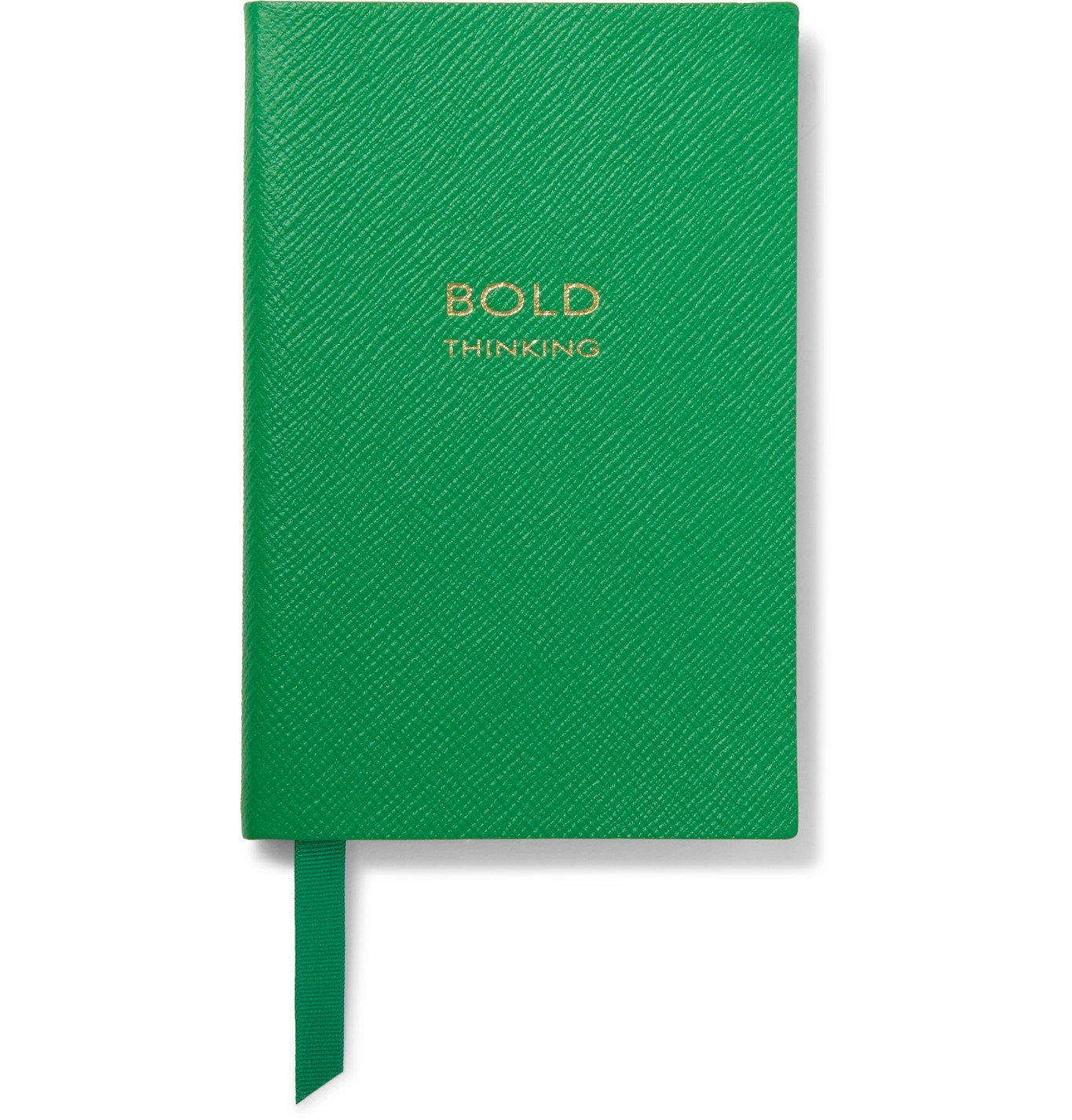 Smythson - Bold Thinking Chelsea Cross-Grain Leather Notebook - Green