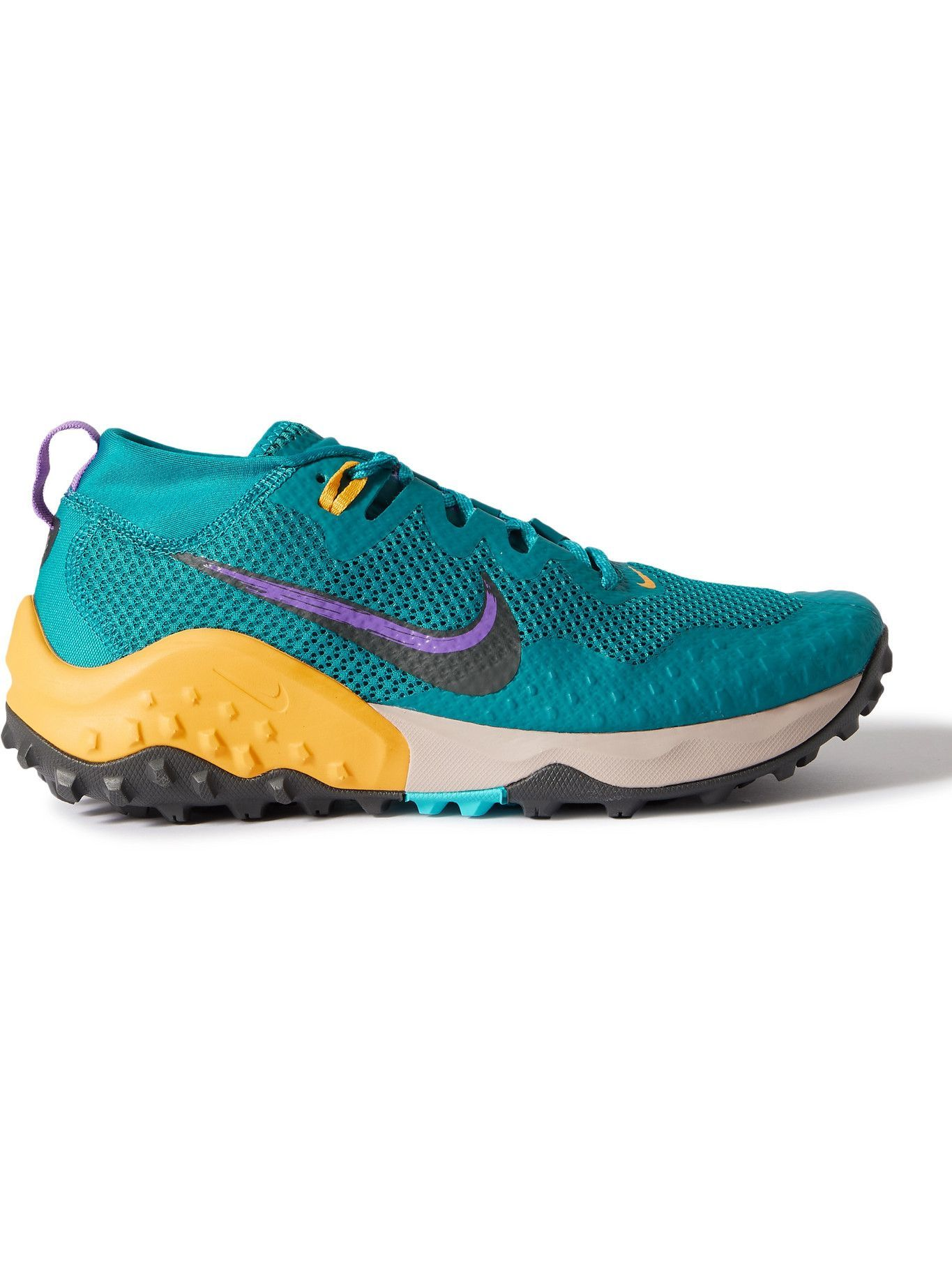 Photo: NIKE RUNNING - Nike Wildhorse 7 Canvas, Rubber and Mesh Running Sneakers - Blue