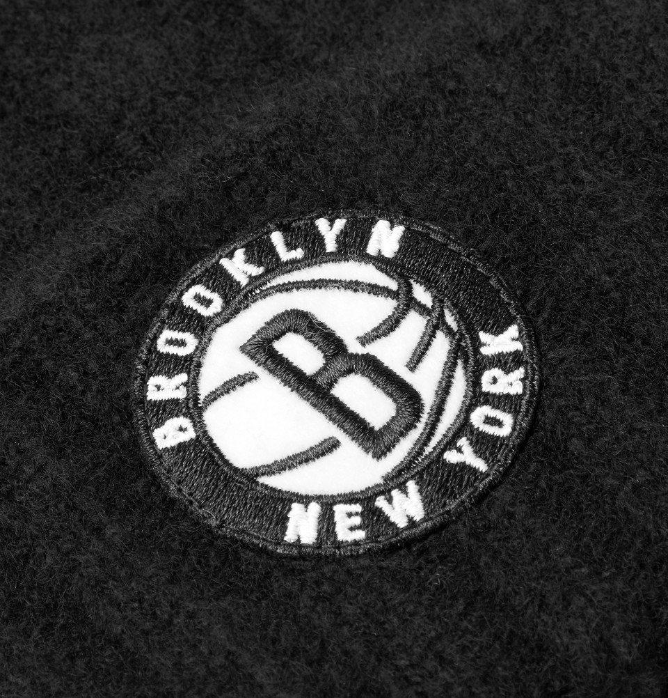 The Elder Statesman - NBA Brooklyn Nets Appliquéd Cashmere Beanie - Black