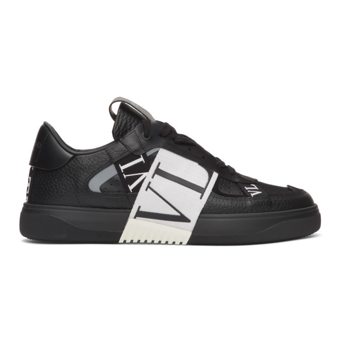 Photo: Valentino Black and White Valentino Garavani Elastic Low-Top Sneakers