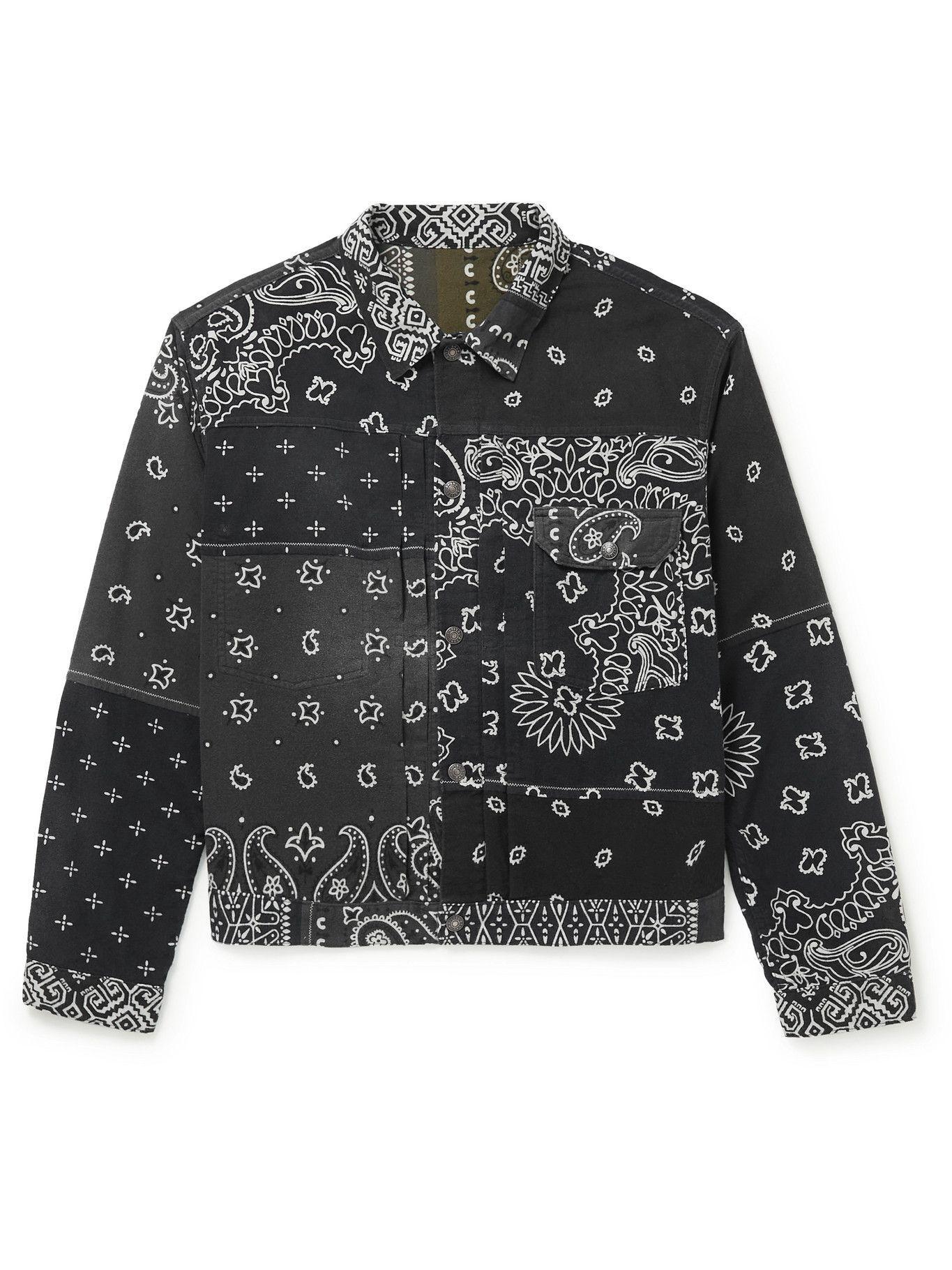 Photo: KAPITAL - Reversible Bandana-Print Felted Cotton Jacket - Gray