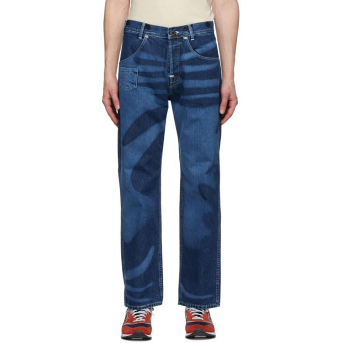 Photo: Junya Watanabe Indigo Levis Edition Print Jeans