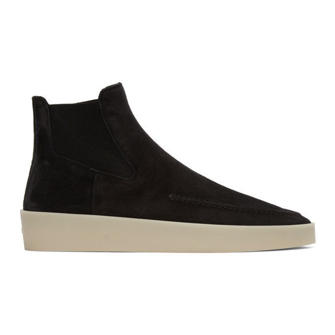 Photo: Fear of God Black Suede Chelsea Boots
