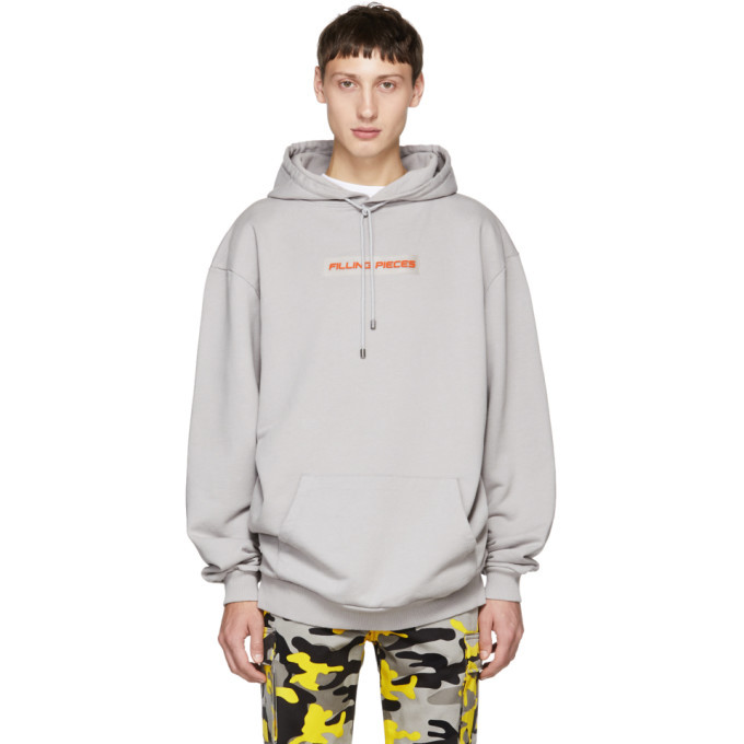 Photo: Filling Pieces Grey Logo Patch Hoodie