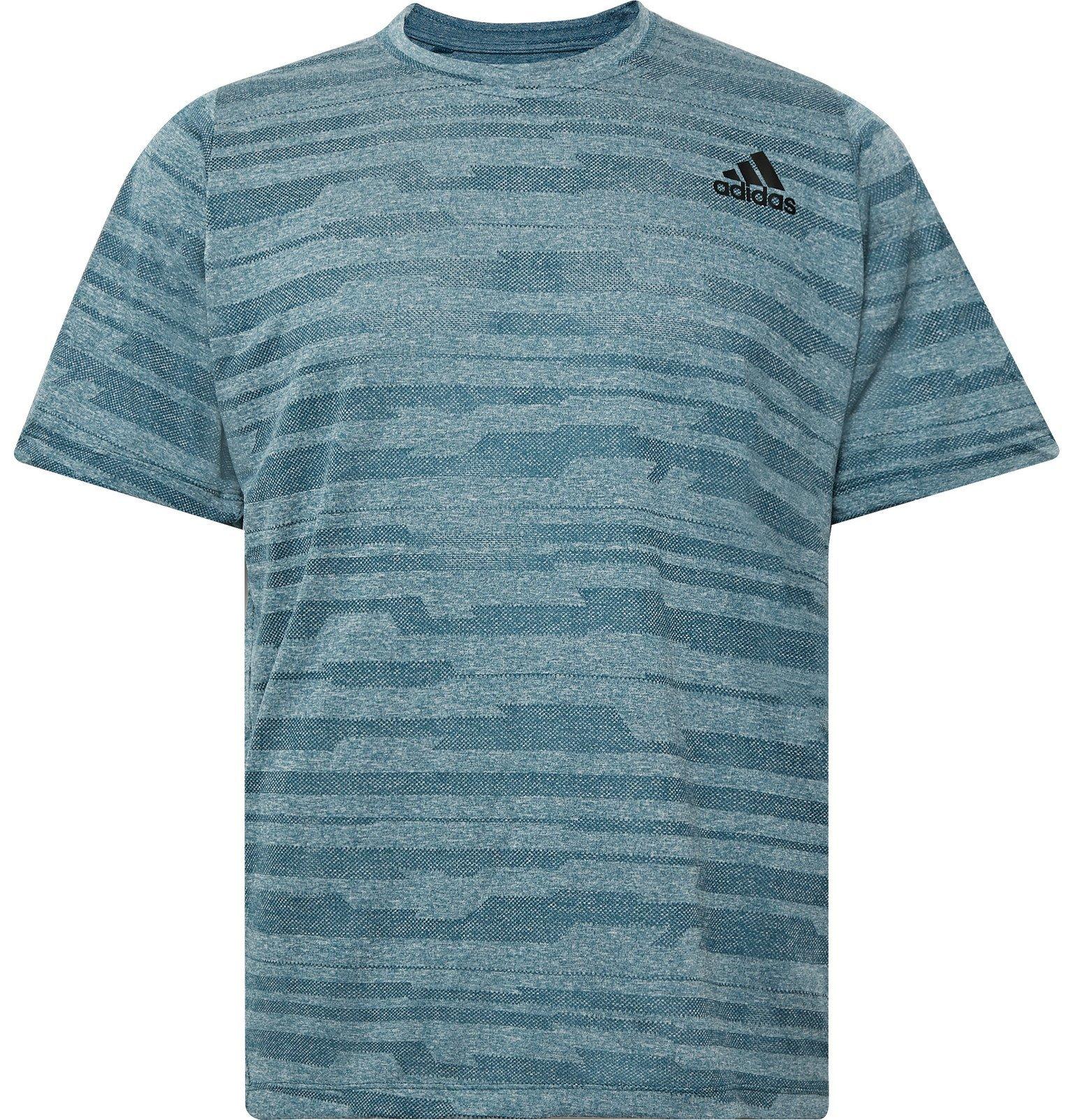 Photo: Adidas Sport - FreeLift Engineered Climalite T-Shirt - Blue