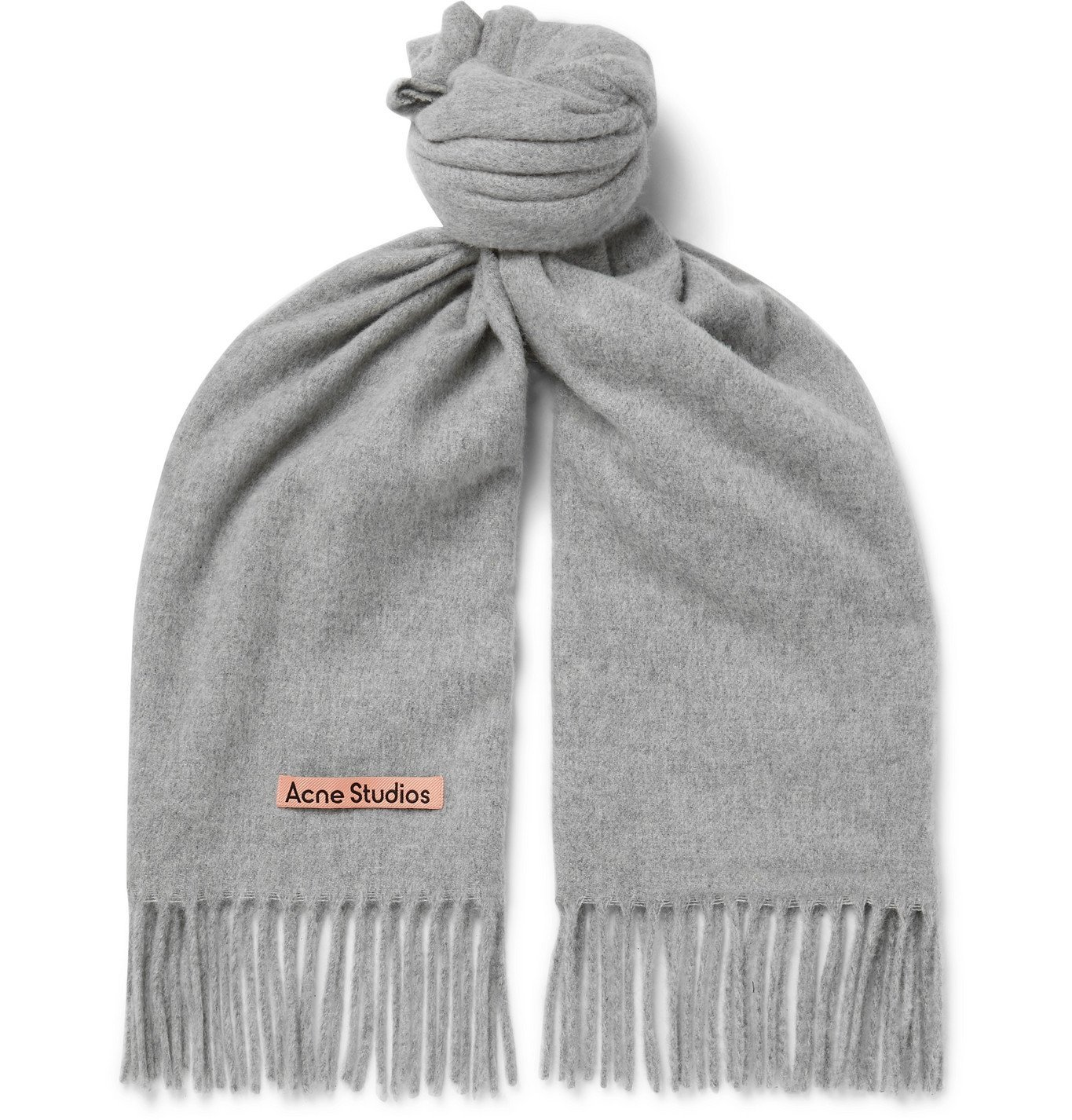 Photo: Acne Studios - Fringed Mélange Wool Scarf - Gray