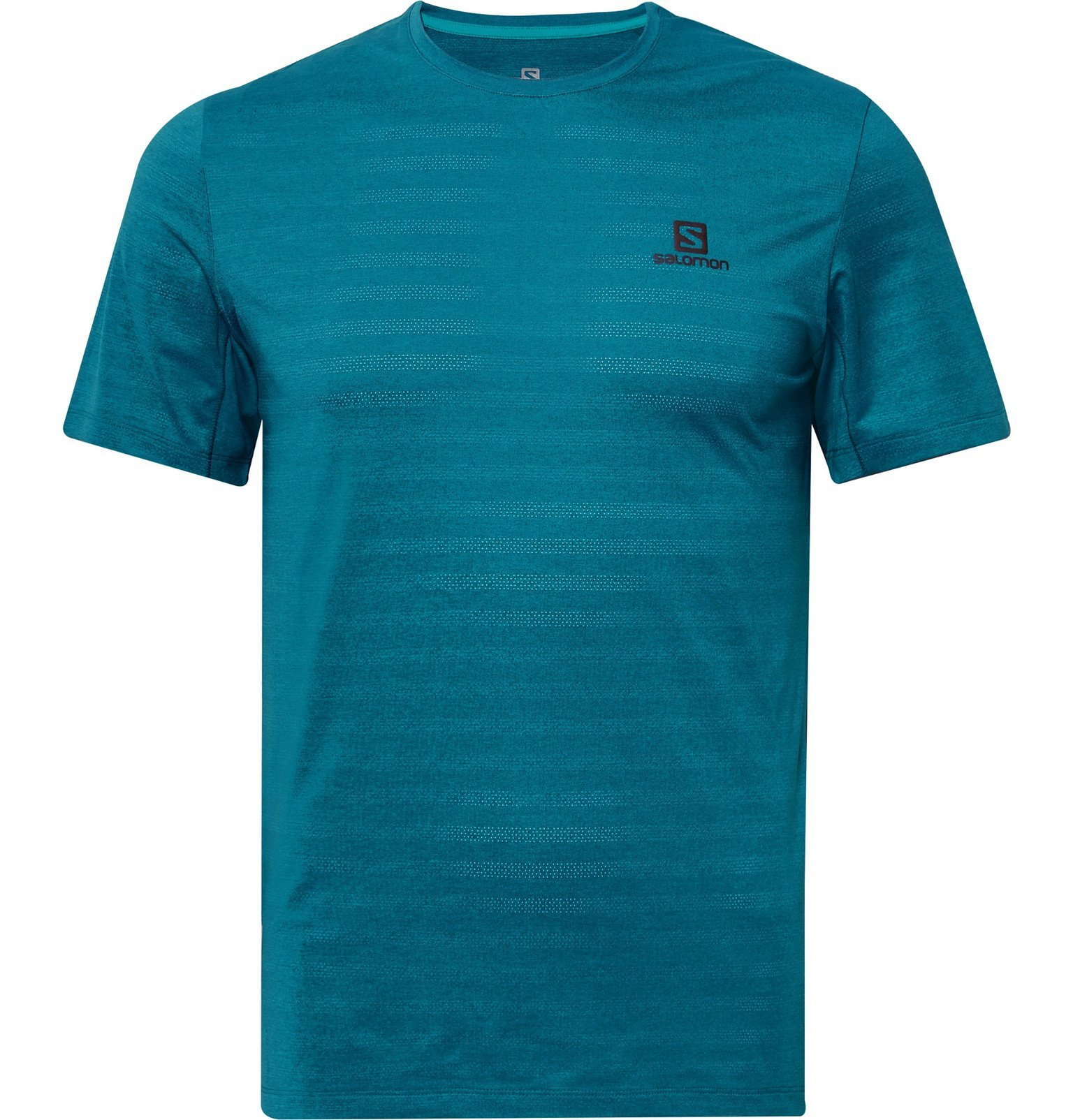 Photo: Salomon - XA Perforated Stretch-Jersey T-Shirt - Blue
