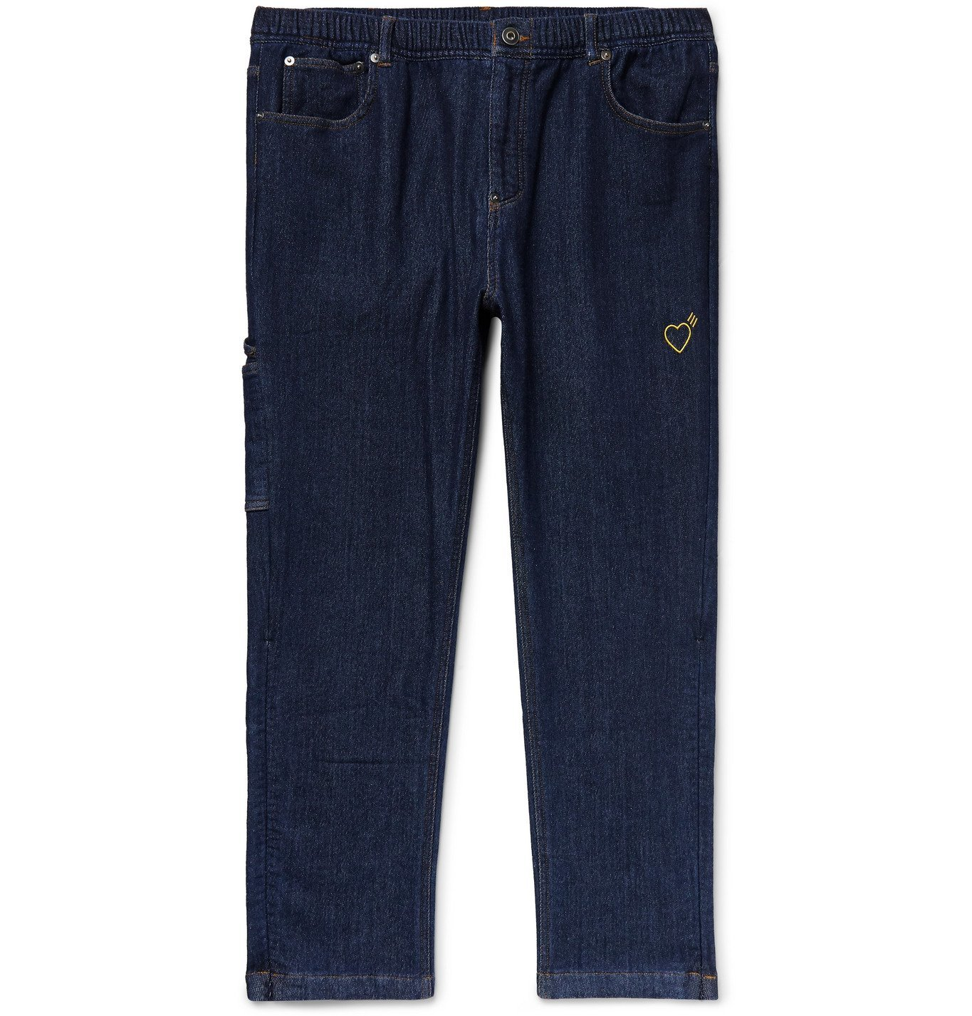 Photo: adidas Consortium - Human Made Slim-Fit Embroidered Stretch-Denim Jeans - Blue