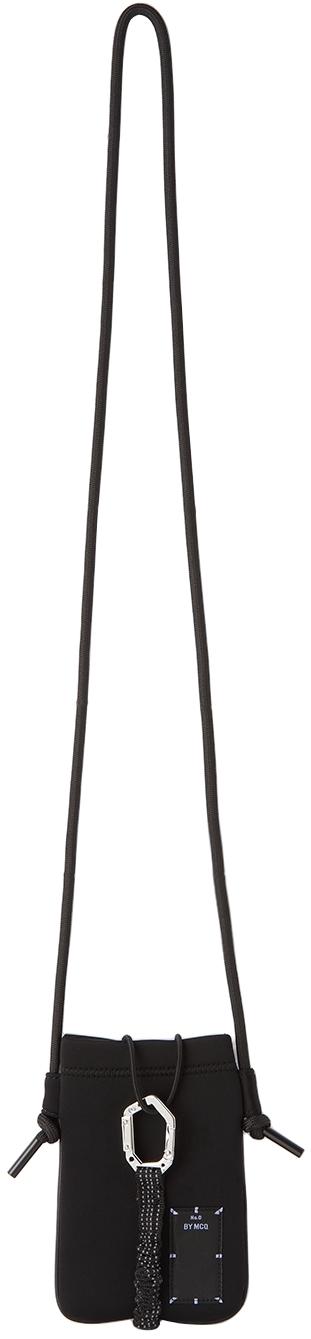 Photo: MCQ Black Neoprene Hyper Phone Holder Bag