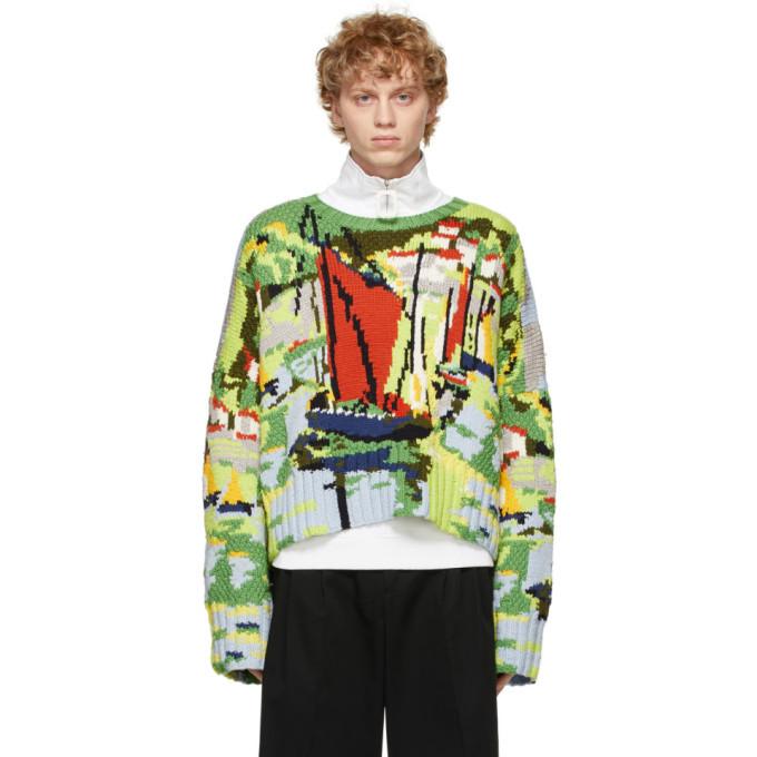 Photo: JW Anderson Multicolor Knit Landscape Sweater