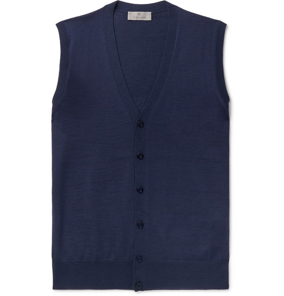 Photo: Canali - Merino Wool Sweater Vest - Navy
