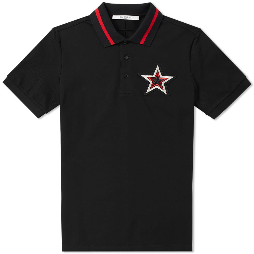 Photo: Givenchy Cuban Embroidered Star Chest Polo