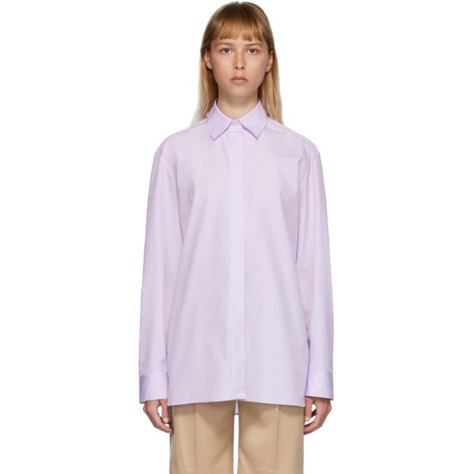 Photo: The Row Purple Big Sisea Shirt