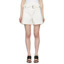 3.1 Phillip Lim White Belted Flap Pockets Shorts
